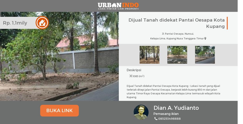 Tanah Dijual Didekat Pantai Oesapa Kota Kupang Nunsui Kab