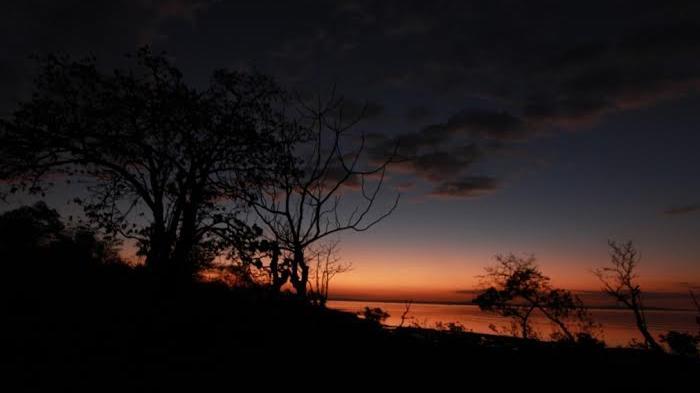 Asyik Memancing Berburu Bintang Laut Ubur Pantai Indahnya Senja Tablolong