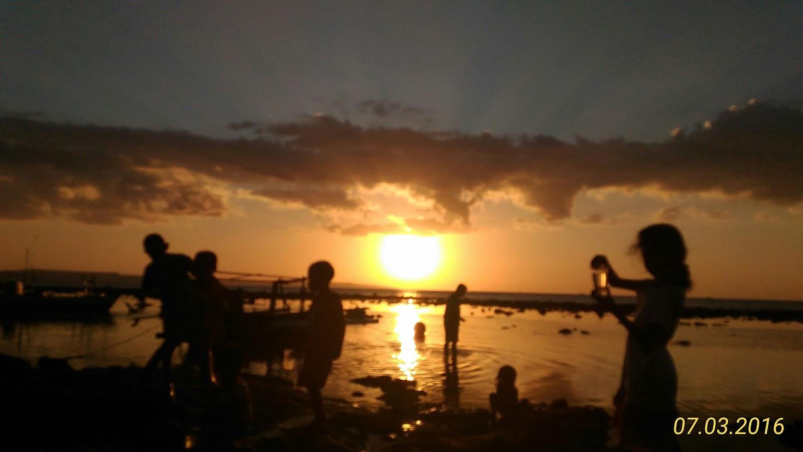 Arianto Ntt Sunset Pantai Batu Kepala Tedis Kab Kupang