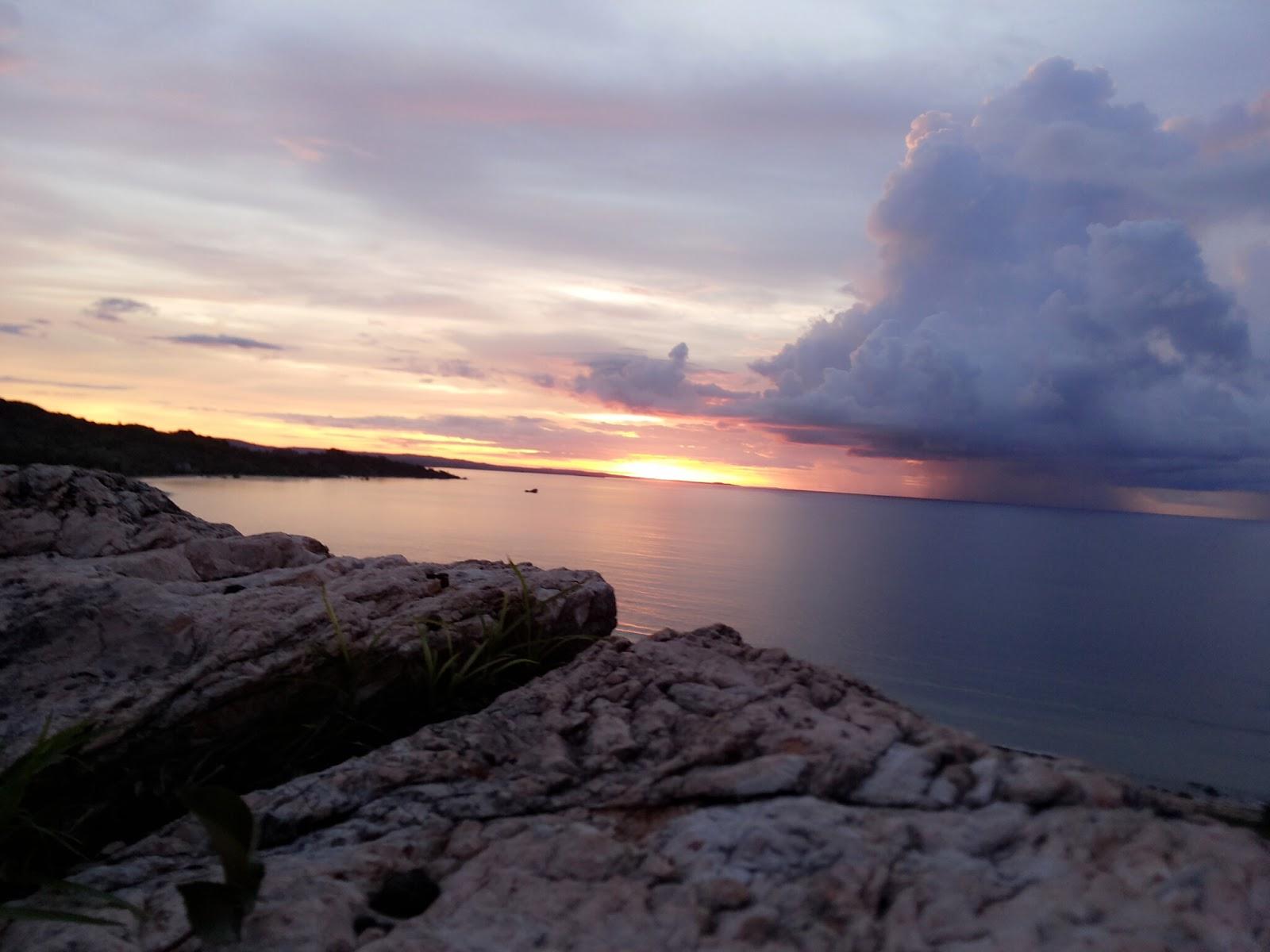 Arianto Ntt Sunset Pantai Batu Termanu Kabupaten Rote Ndao Menikmati