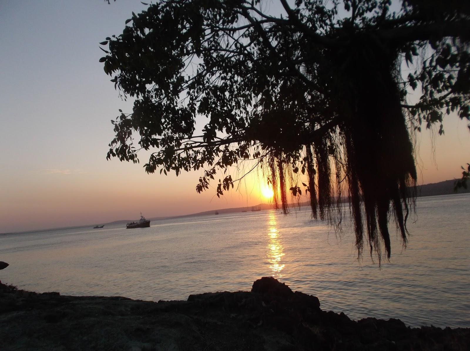 Arianto Ntt Sunset Pantai Kelapa Satu Kota Kupang Dipantai Berbatu