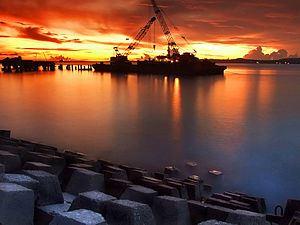 Kota Kupang Kuliahkaryawankupang Senja Pelabuhan Tenau Jpg Pasar Malam Kampung