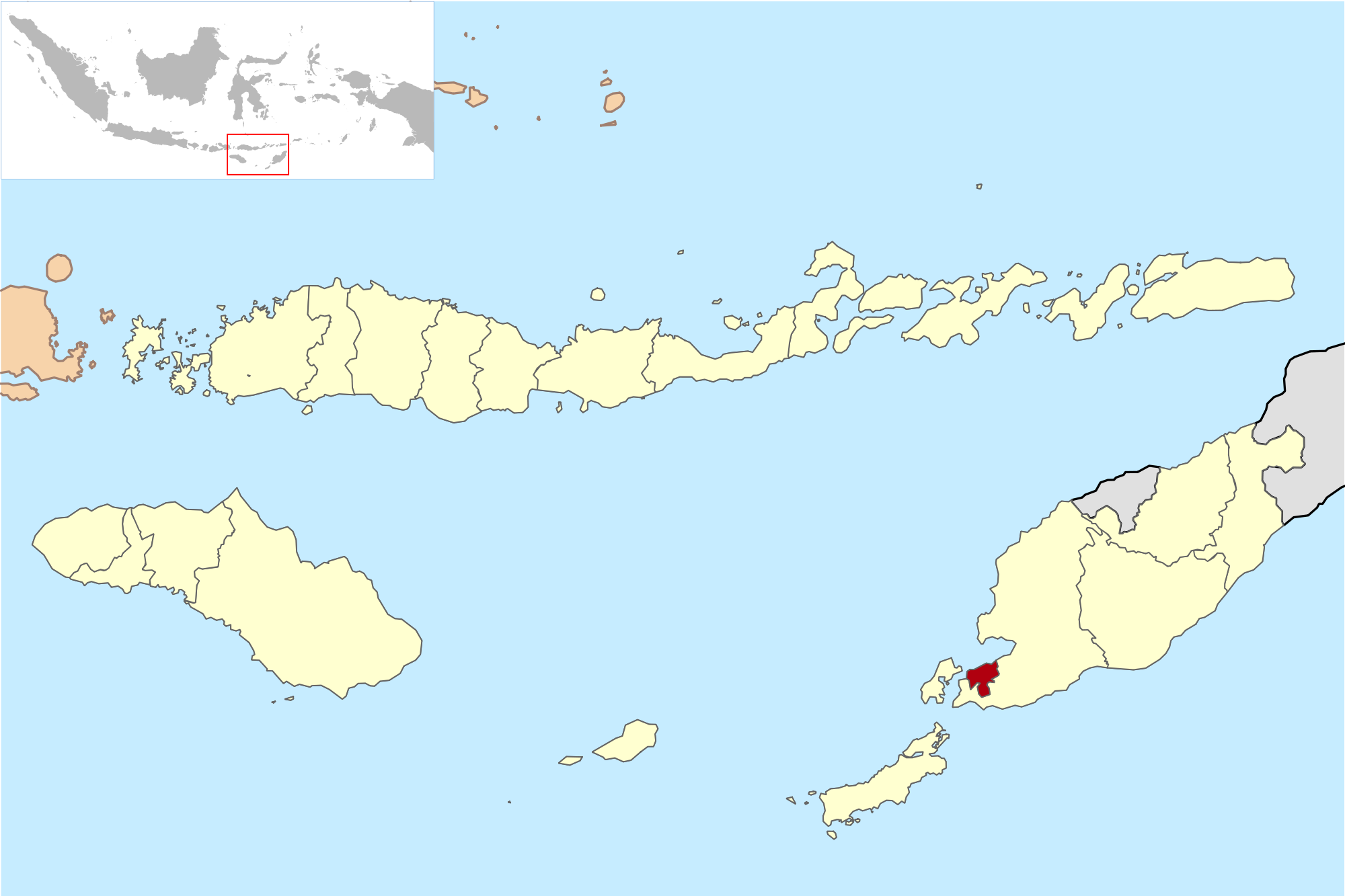 Kota Kupang Wikipedia Bahasa Indonesia Ensiklopedia Bebas Lokasi Pulau Timor