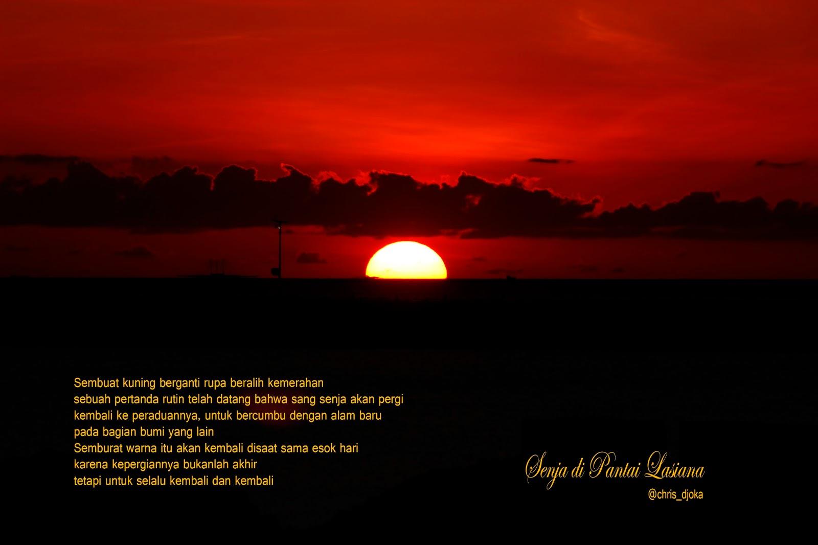 Sunset Kupang Flores Borneo Mengunjungi Objek Wisata Religi Oebelo Taman