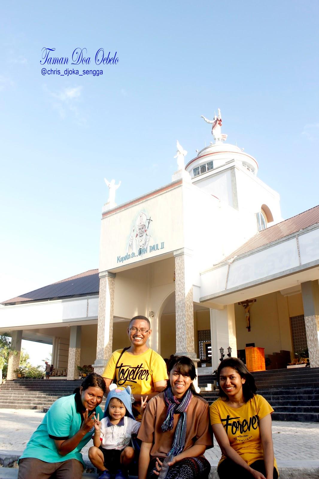 Sunset Kupang Flores Borneo Taman Doa Oebelo Berlatar Kapela St