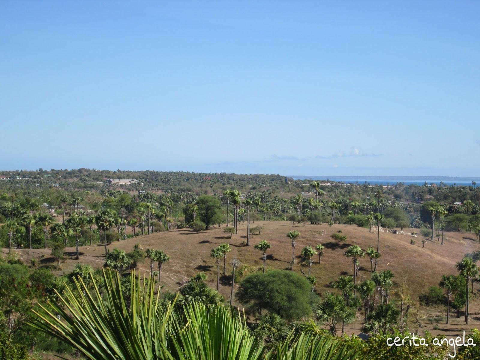 Taman Doa Tanah Gersang Suasana Luar Oebelo Kab Kupang