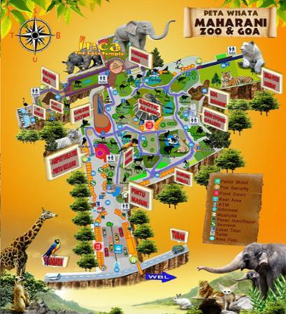 Maharani Zoo Goa Map Foto Kebun Binatang Kab Lamongan