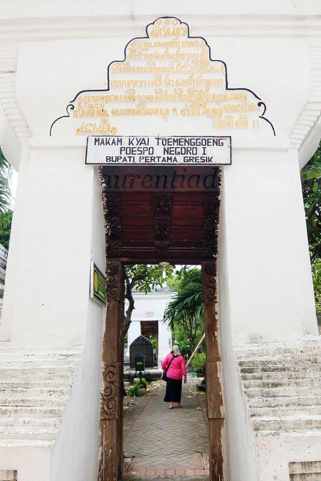 Makam Kyai Tumenggung Poesponegoro Gresik Bupati Pertama Gapura Paduraksa Bagian