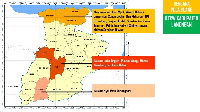 Ppt Pariwisata Kab Lamongan 10 Rencana Pola Ruang Rtrw Kabupaten