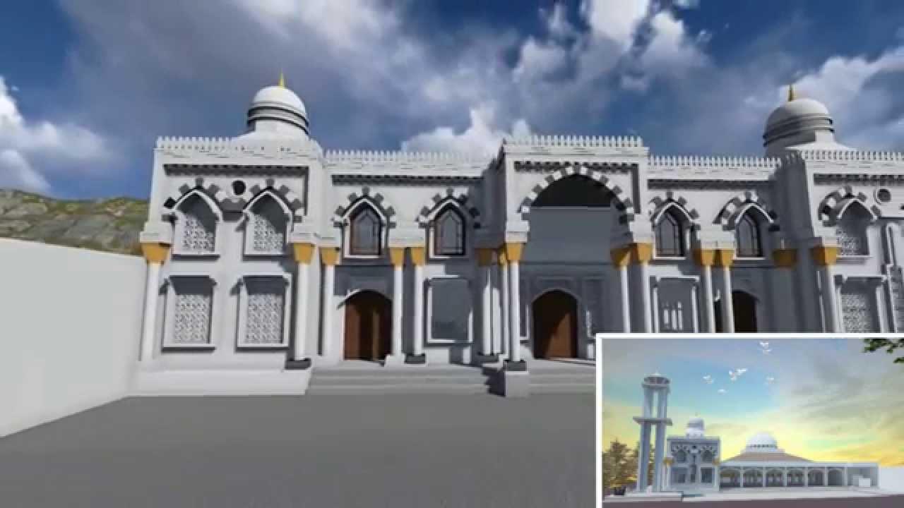 Animasi Master Plan Masjid Baiturrahman Paciran Lamongan Hamiqi Youtube Agung