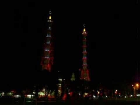 Kilauan Cahaya Menara Masjid Agung Lamongan Youtube Kab