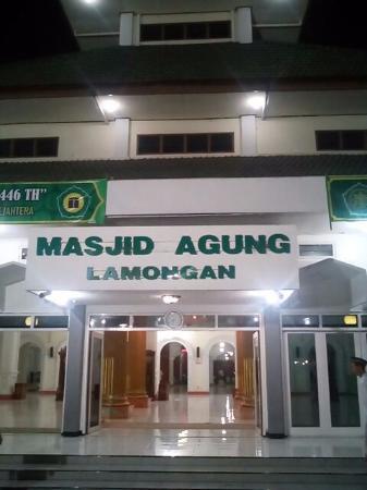 Masjid Agung Lamongan Tampak Depan Foto Kab