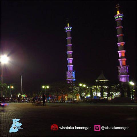 Wisata Lamongan Wisatalamongan Instagram Photos Videos Keindahan Masjid Agung Kab