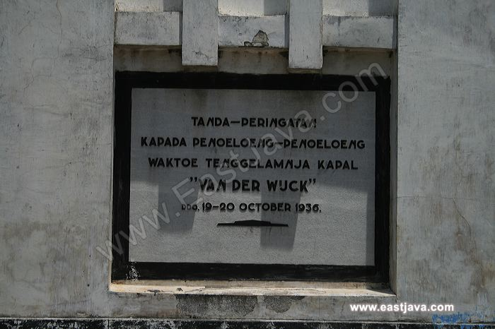 Van Der Wijk Monument Memorized Ship Sank Lamongan Galleries Ven