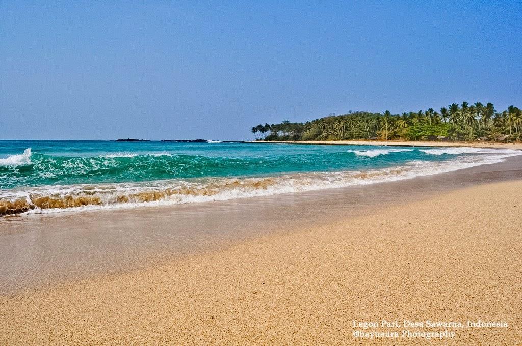 Aura Art Sawarna Beach Pantai Pasir Putih Dekat Penginapan Kemarin