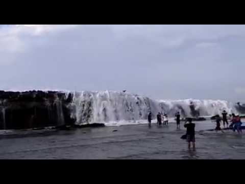 Karang Taraje Pantai Sawarna Lebak Banten Youtube Kab