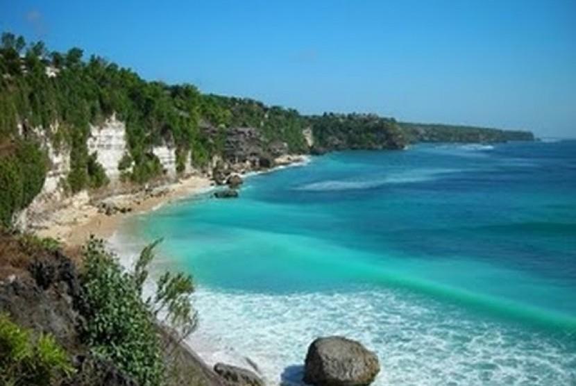 Objek Wisata Pantai Sawarna Lebih Dikembangkan Republika Online Karang Taraje