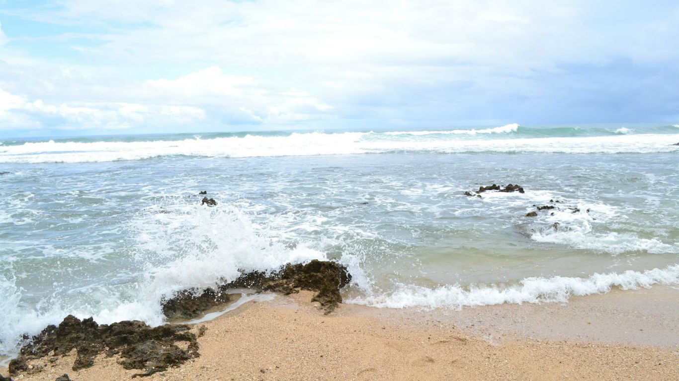 Pantai Karang Taraje Pesona Berbentuk Tangga Banten Kab Lebak