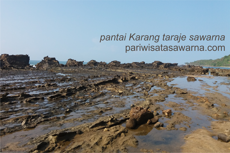 Pantai Karang Taraje Sawarna Pariwisata Pula Sebagai Penghalang Ombak Tengah