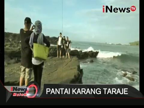Pesona Pantai Karang Taraje Lebak Banten Bentuk Menyerupai Tangga Inews