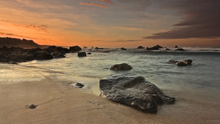 Pantai Karang Songsong Cibobos Lebak Selatan Bantensite Karangsongsong Kab