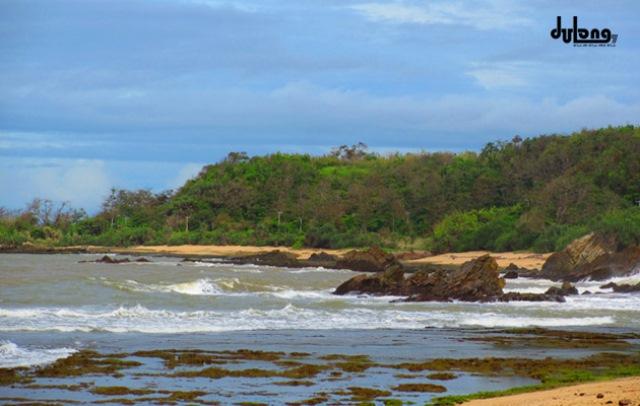 Pantai Karang Songsong Cibobos Terdapat Pasir Putihnya Alami Indah Cocok