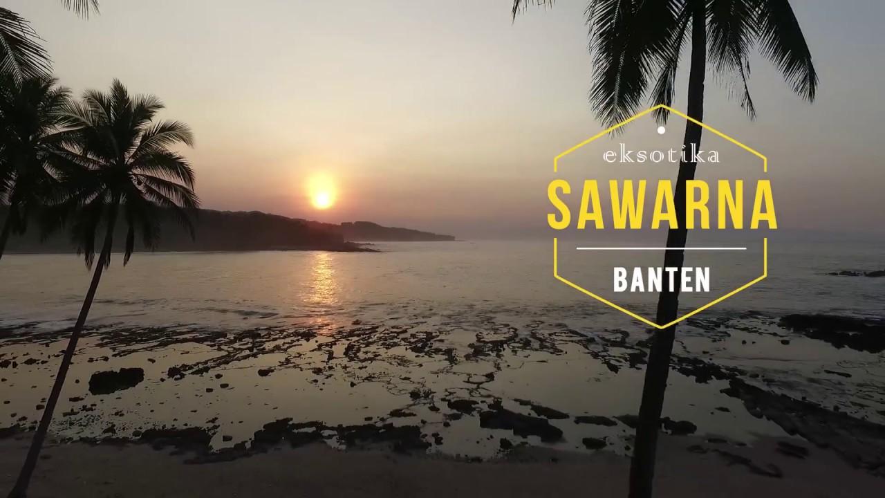 Aerial Pantai Sawarna Kec Bayah Kab Lebak Banten Youtube