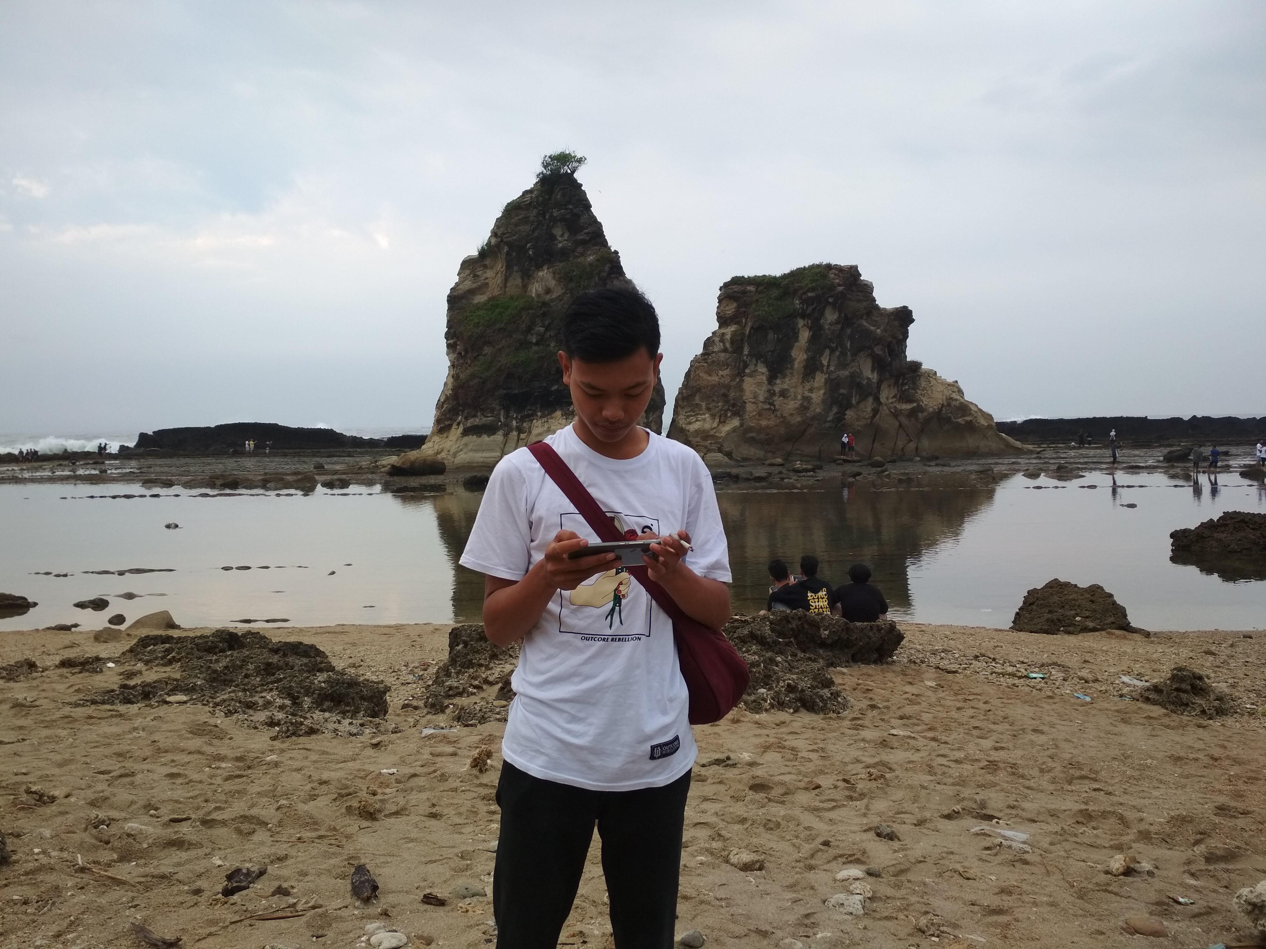 Berlibur Pantai Sawarna Steemit Banten Sebuah Kindahan Alam Terselip Hadapan