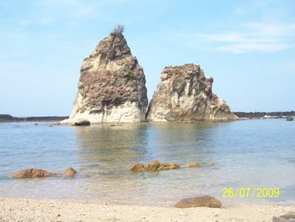 Komunitas Blogger Lebak Selatan Pantai Sawarna 1 Gerbang Menjadi Tanda