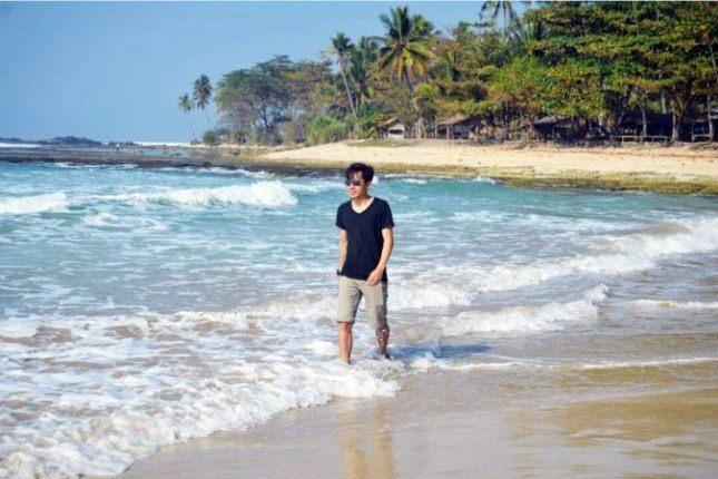 Pantai Legon Pari Sawarna Kabupaten Lebak Banten Jejak Alam Kab