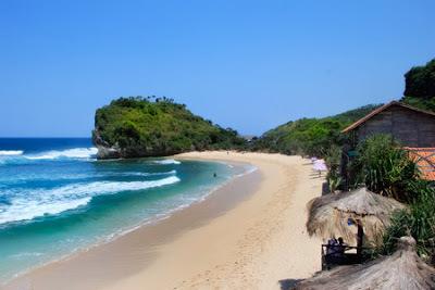 Pesona Pantai Sawarna Lebak Banten Rental Tour 3 Bersaudara Kab