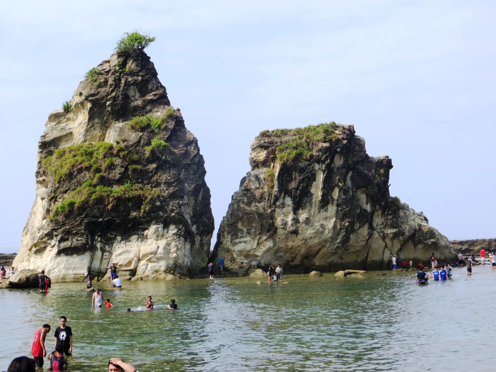 Rute Menuju Pantai Sawarna Bayah Lebak Banten Tulisanbiasabambang Image Kab