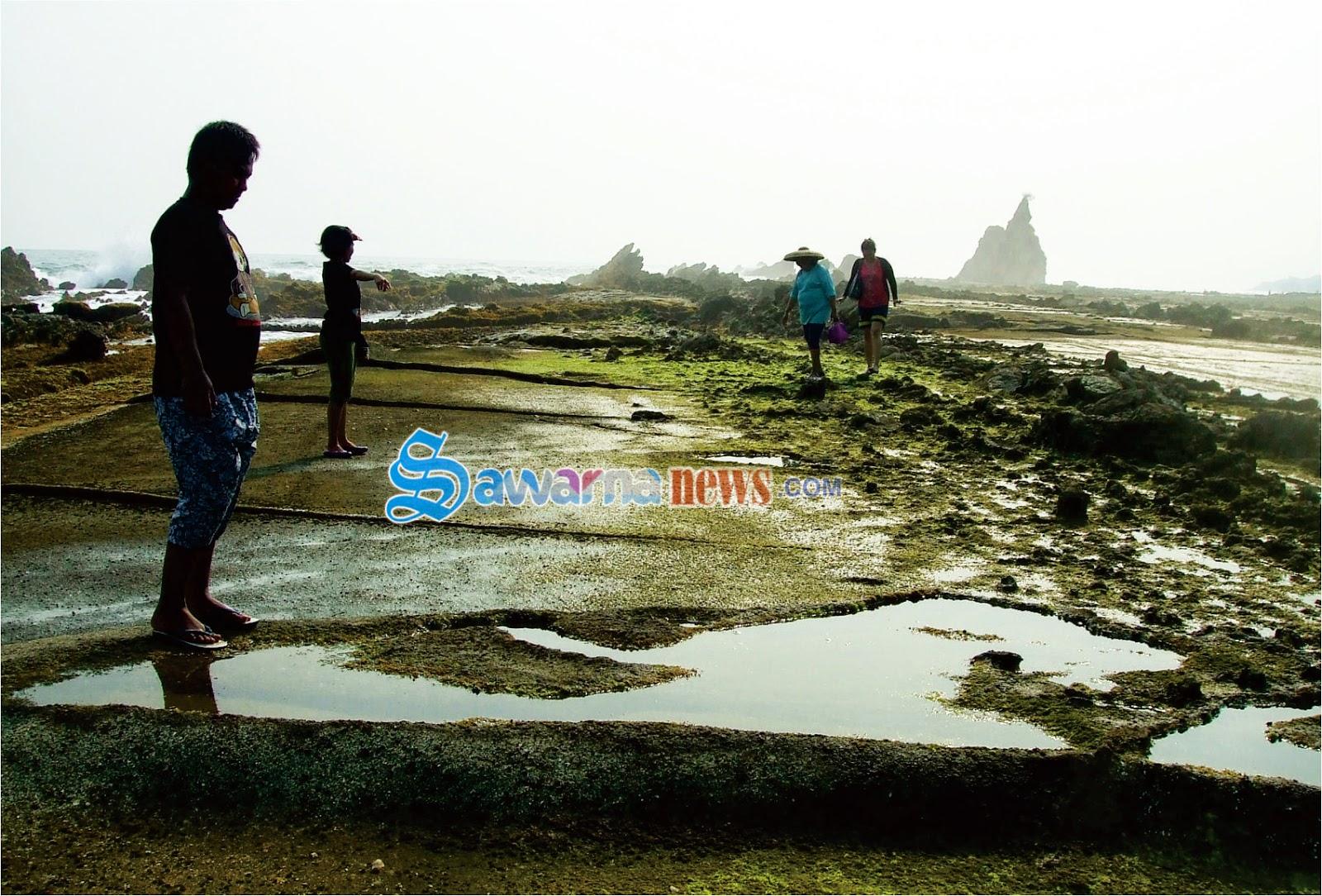 Tapak Kaki Kabayan Objek Wisata Pantai Sawarna Villa Informasi Reservasi