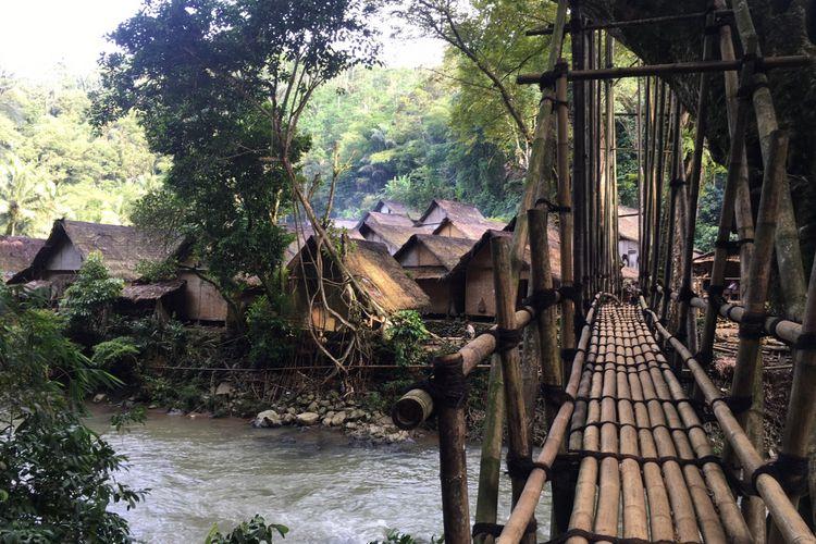 Februari Hingga April Wisatawan Tak Bisa Berkunjung Baduy Jembatan Bambu