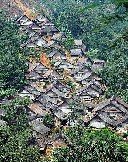 Kehidupan Suku Baduy Indonesia Lombok Perkampungan Tradisional Kab Lebak