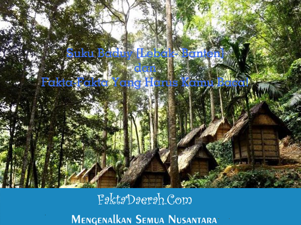 Suku Baduy Lebak Banten Fakta Kamu Baca Desa Kanekes Kecamatan