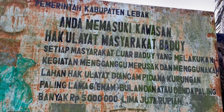 Tradisi Kawalu Baduy Terlarang Didatangi Wisatawan Kompas Perkampungan Suku Tjahja