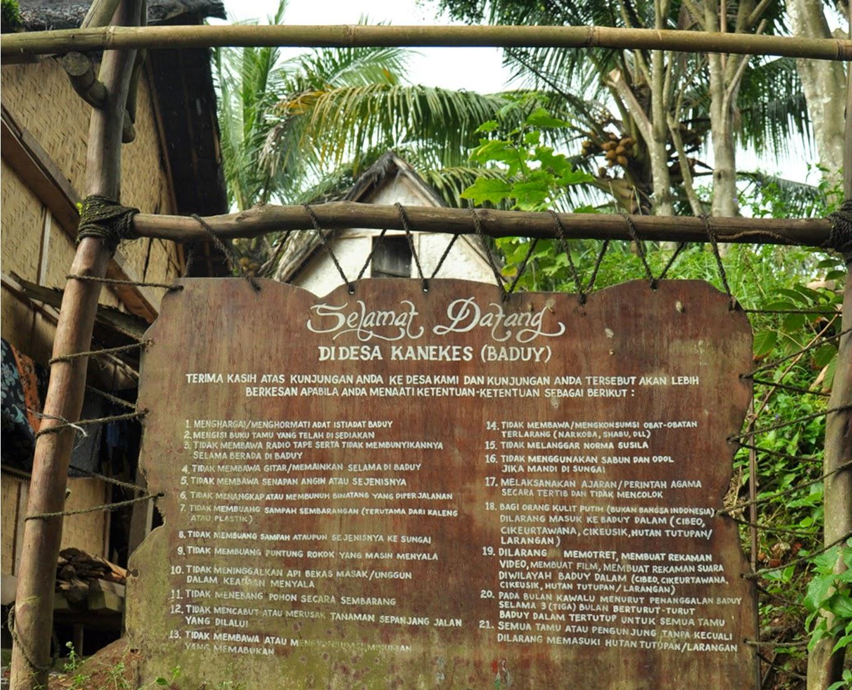 Wisata Budaya Desa Kanekes Suku Baduy Banten Lokal Indonesia Perkampungan