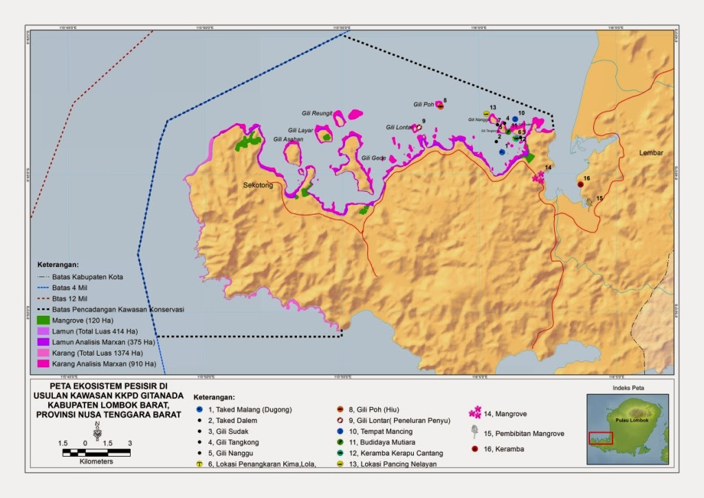 Lautku Kehidupanku Pencadangan Kawasan Konservasi Perairan Daerah Peta Gita Nada