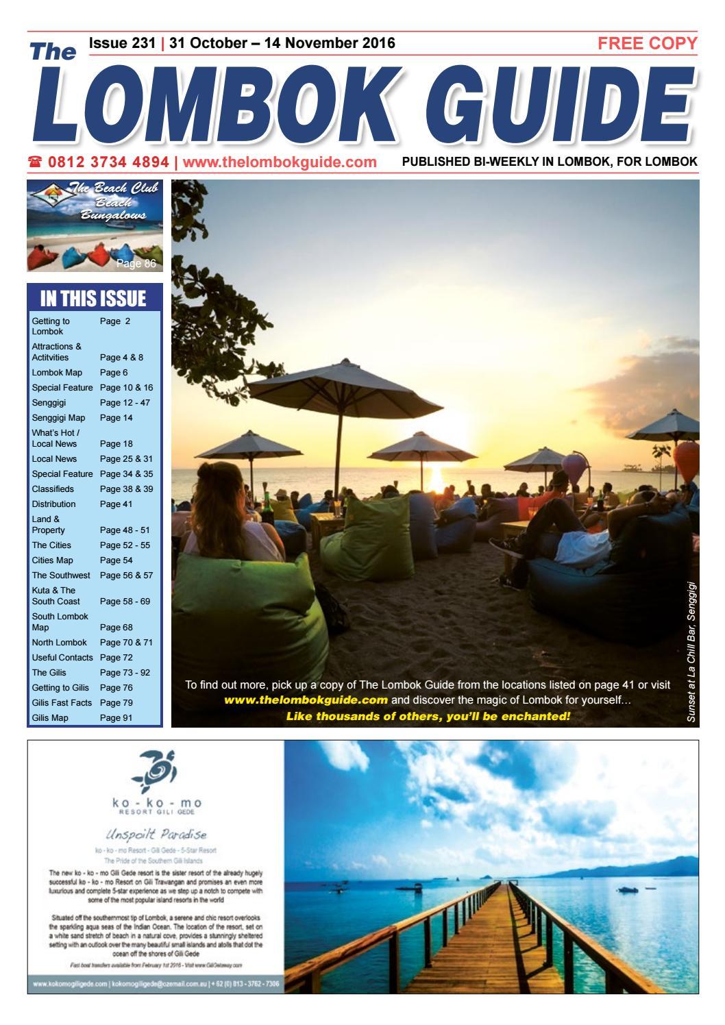 Lombok Guide Issue 231 Issuu Gili Tangkong Kab Barat