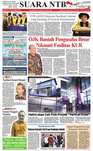 Edisi 26 Oktober 2017 Suara Ntb Paper Kmb Issuu Harian