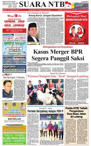 Edisi 30 Agustus 2017 Suara Ntb Paper Kmb Issuu Harian