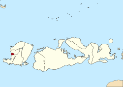 Mataram City Wikipedia Location West Nusa Tenggara Taman Narmada Kab