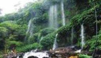 Pemandian Aik Bukak Lombok Tengah Kelilingi Pemandangan Hijau Desa Berik