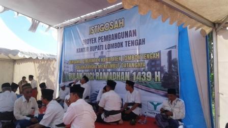 Pemerintah Kabupaten Lombok Tengah Plt Bupati Pimpin Istigosah Pembangunan Kantor