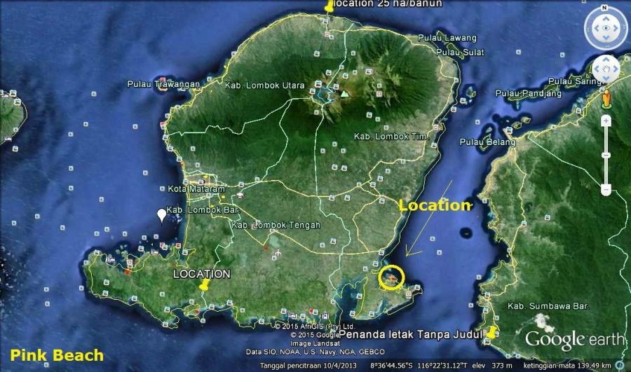 Tanah Tebing Pinggir Pantai Pink Telone Lombok Timur Ntb Dijual