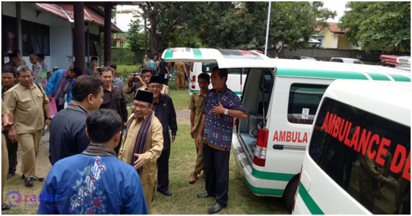 Enam Desa Dihibahkan Mobil Ambulans Website Bentek Tanjung Pemkab Lombok