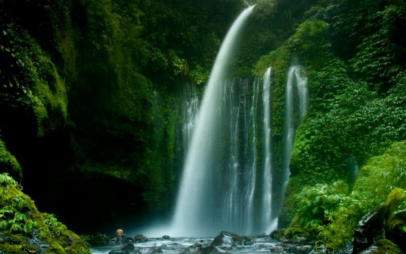 Kabupaten Lombok Utara Wisata Air Terjun Tiu Kelep Desa Gumantar
