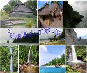 Pesona Wisata Lombok Utara Jalan Desa Senaru Kab