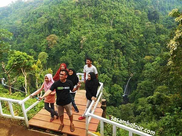Wisata Air Terjun Lombok Sumbawa Tebing Kelep Senaru Utara Desa
